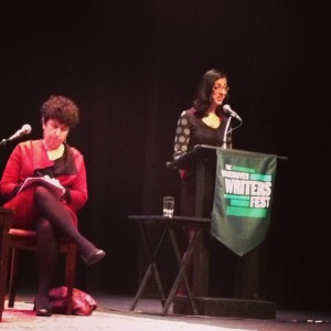 Reading from Tikkun at Out of Place at the Vancouver Writers' Fest