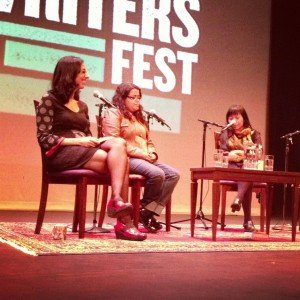 At Out of Place at the Vancouver Writers' Fest, with the brilliant Xiaolu Guo and Silvia Moreno-Garcia