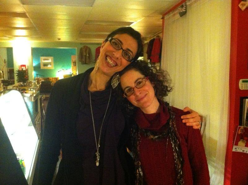With Atarah in The Raw Sugar Cafe in Ottawa