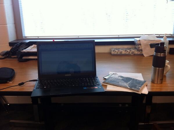 My writer-in-residence office at Crescent School